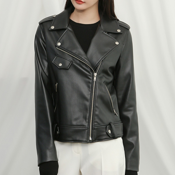 (R-JK-1760) artificial Leather Rider Jacket