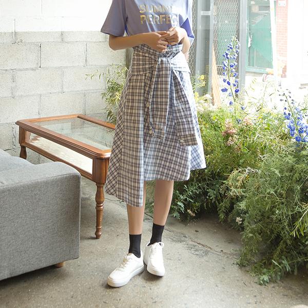 (SK-3367) Check Shirt Skirt