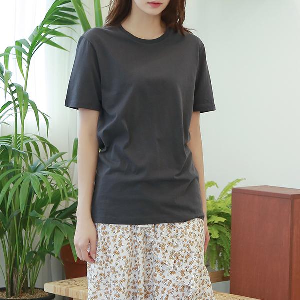 (T-4680) Round Cotton Short-sleeve Tee