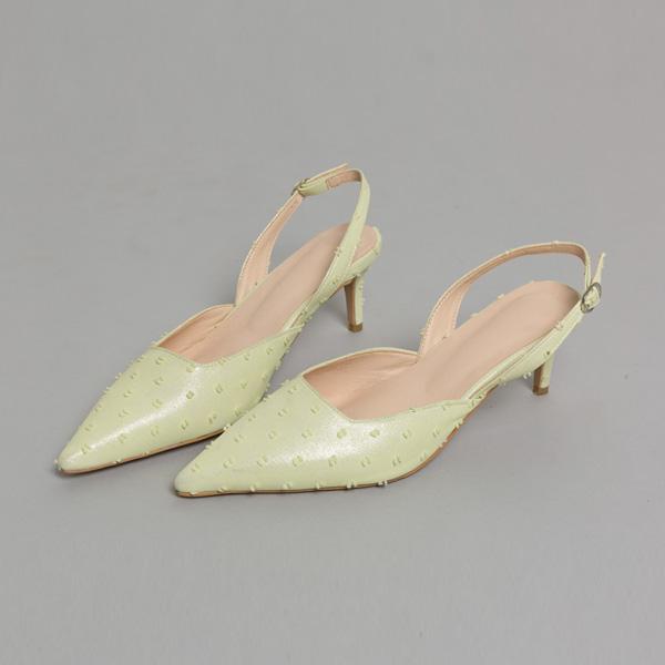(SH-2611) small Dot Sling backs heel