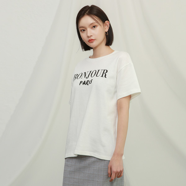 (T-4665) mix lettering Tee