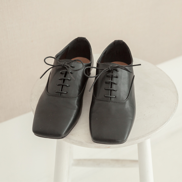 (SH-2627) Square Lace-up Loafers