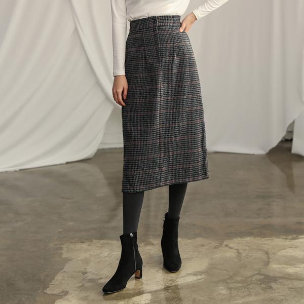 (SK-3196) Winter Hound Tooth Skirt