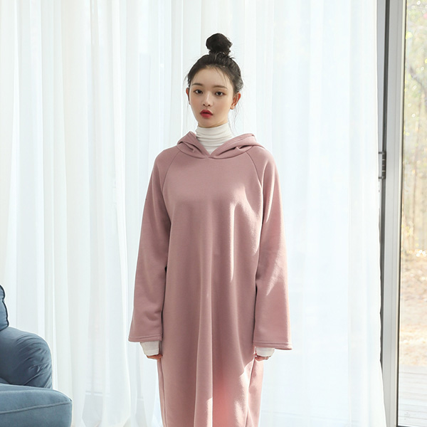 (OP-4263) napping simple Long Hood One Piece