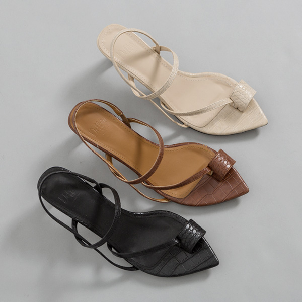 (SH-2667) Toe ring Middle heel Sandals