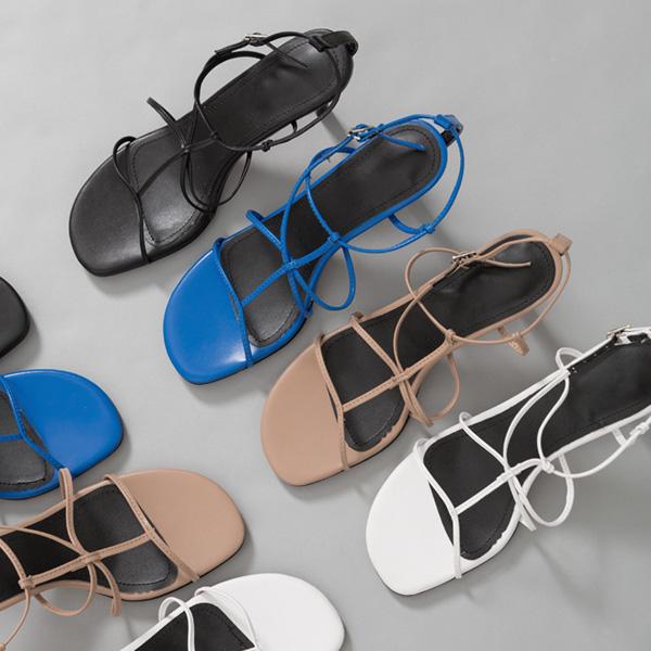 (SH-2669) Thin Strap Sandals