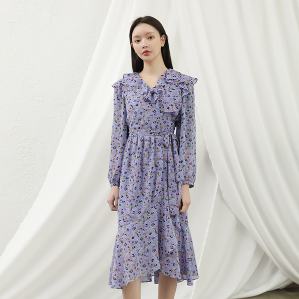 (OP-4149) Lavender Print Lab One PieceS