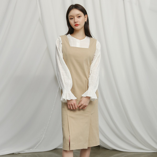 (OP-4005) Square neck layering One Piece