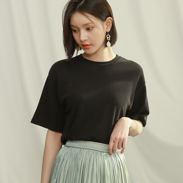 (T-4663) Soft Touch Round Tee