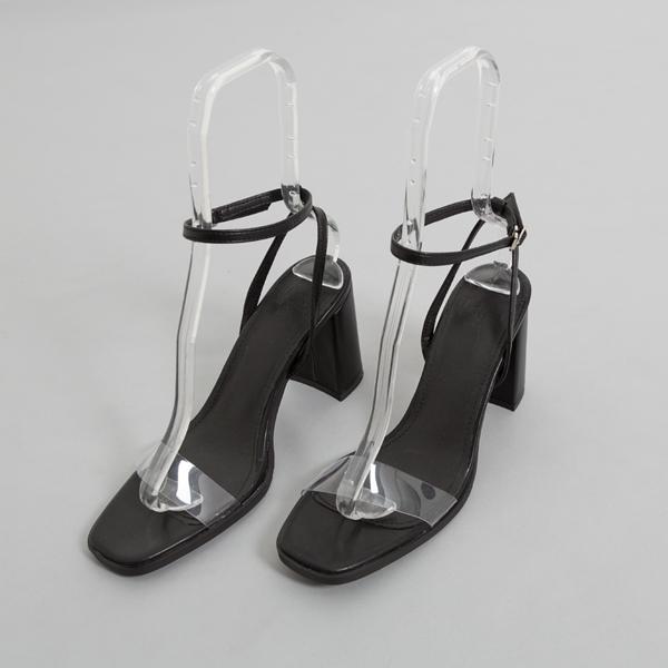(SH-2673) simple PVC Strap Sandals