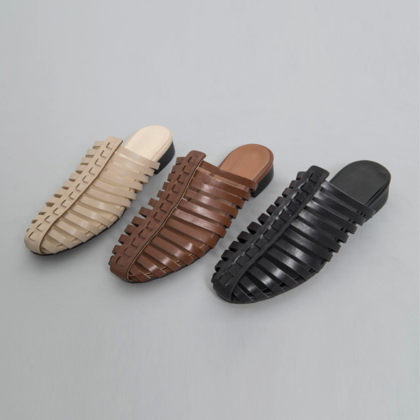 (SH-2689) slit front key point Slippers