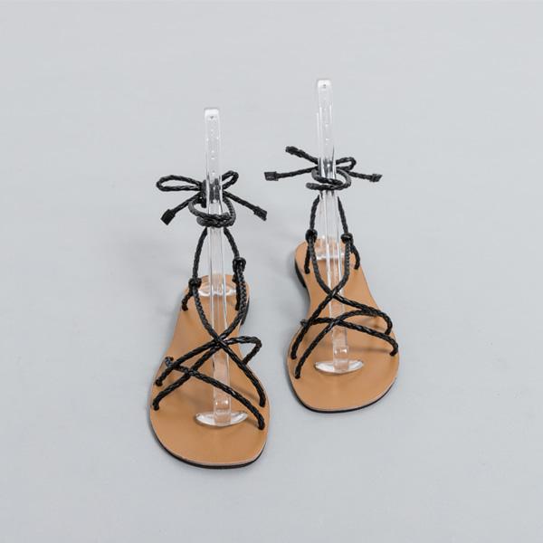 (SH-2718) twist Leather Gladiator Sandals