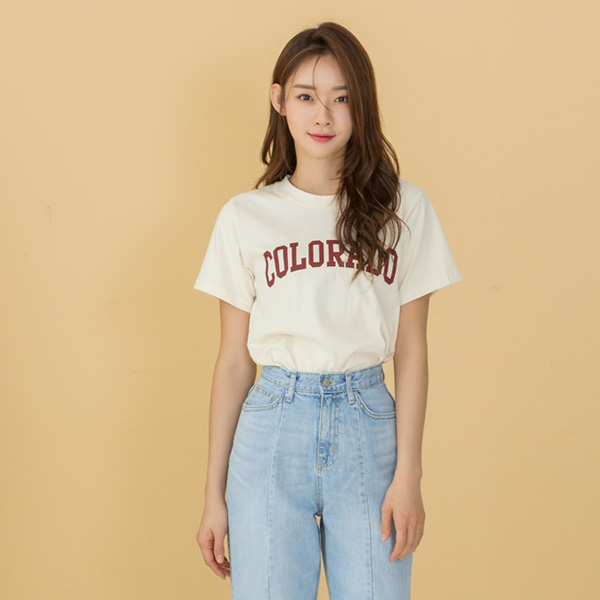 (RT-4148) simple typing casual Tee