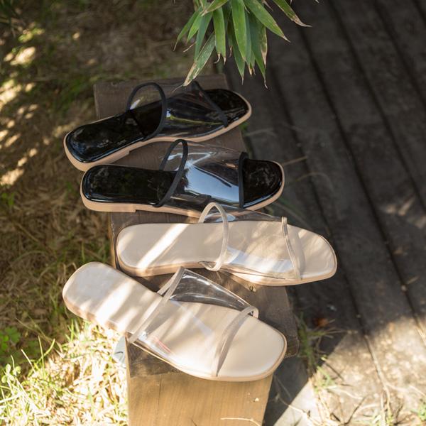 (SH-2696) clear simple line Sandals