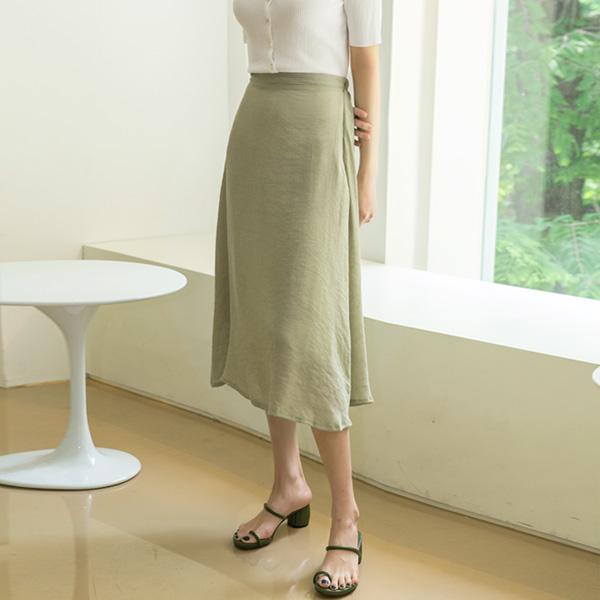 (SK-3463) light Fabric Flare Skirt