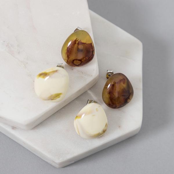 (E-1344) Marble acrylic earring