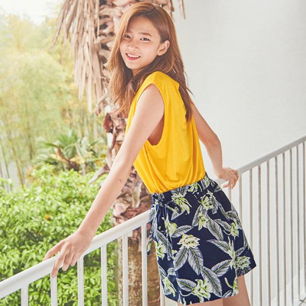 (PT-2921) Summer printing Short pants