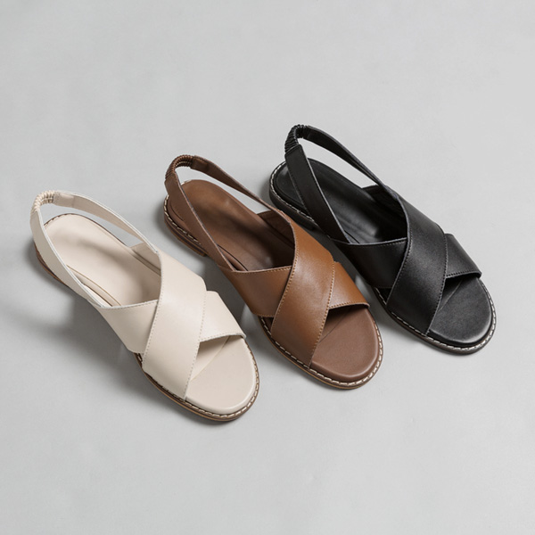 (SH-2749) Real Leather X Sandals