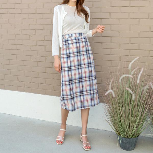 (N-SK-3478) Check Bag Banding Skirt
