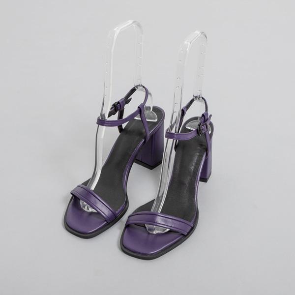 (SH-2763) Color Point simple heel Sandals