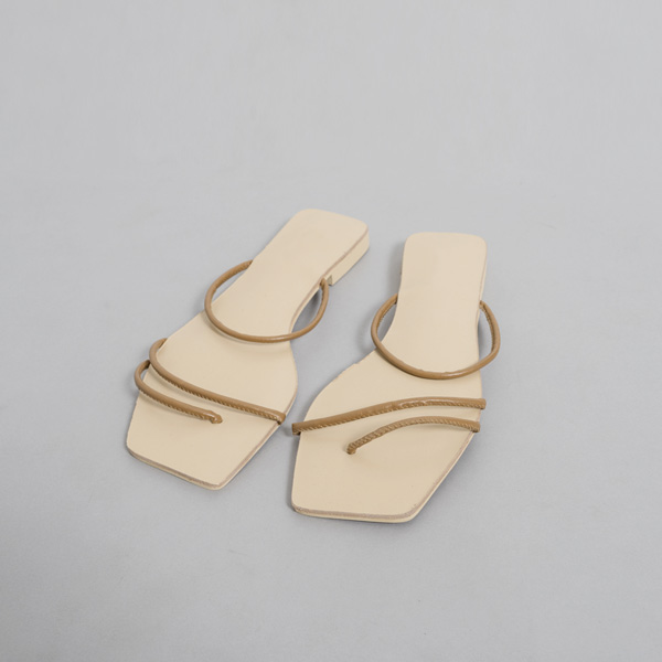 (SH-2767) Diagonal Strap Slippers
