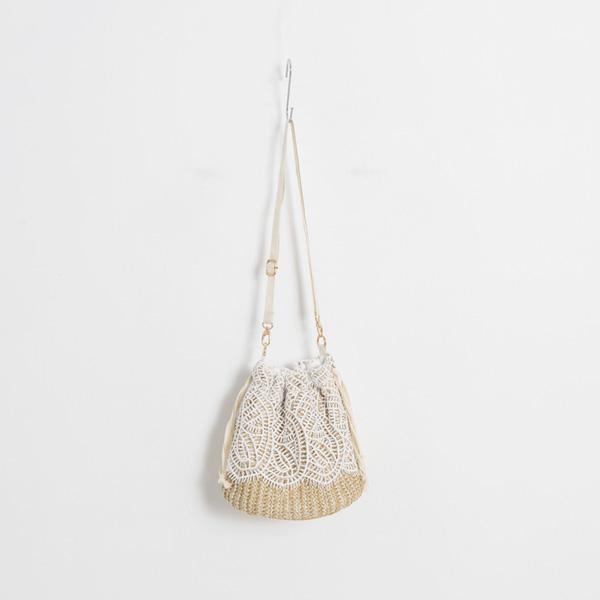 (B-2007) lace bucket bag