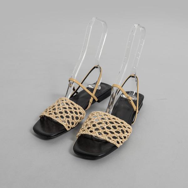 (SH-2771) Mesh key point Sandals