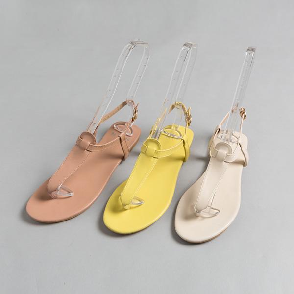 (SH-2706) simple Flat Strap Sandals