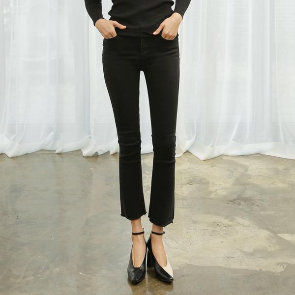 (PT-3642) Slim Fit Semi-Boot cut Denim Pants