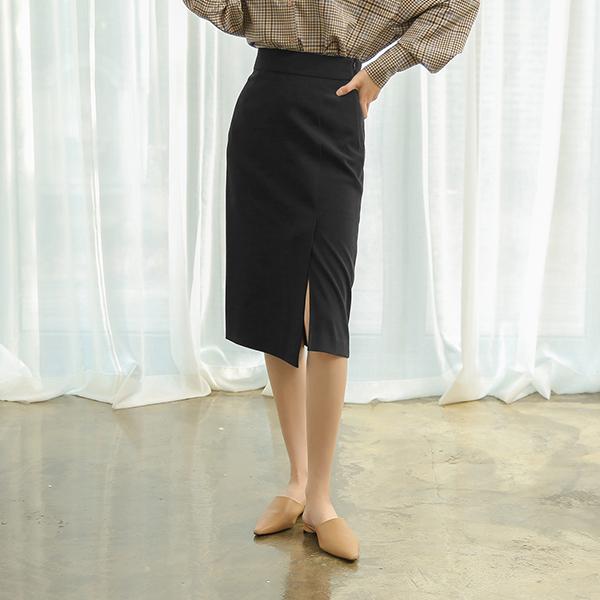 (SK-3189) High-waist Slit Skirt