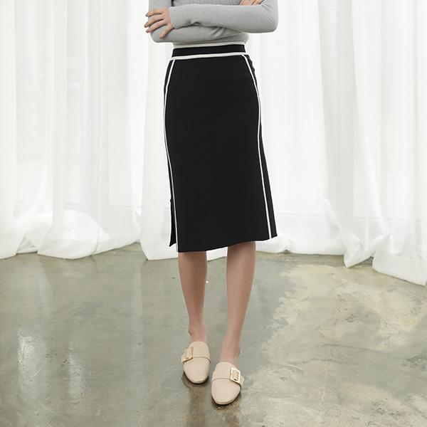 (SK-3192) Setup H Pitch Color key point Knit Skirt