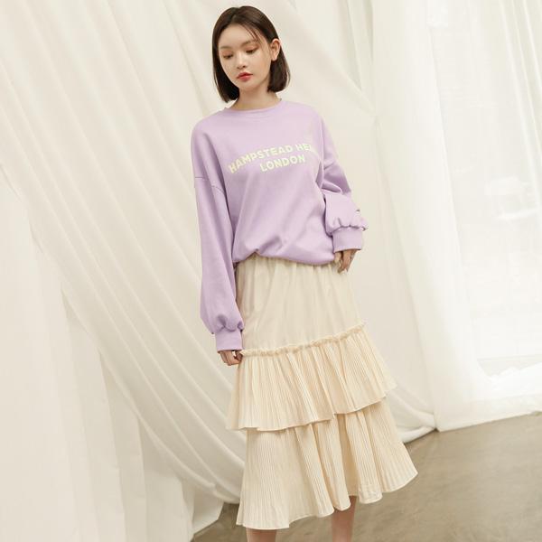 (SK-3289) Freel Tiered Banding Skirt