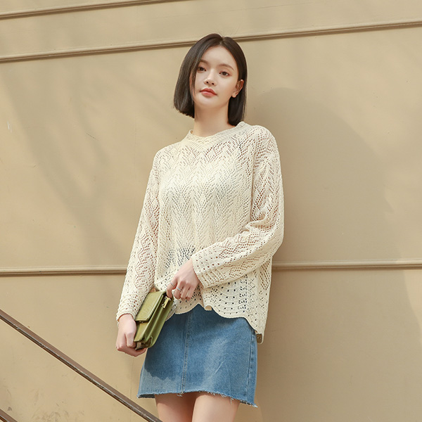 (T-4637) lace skirt loose Knit