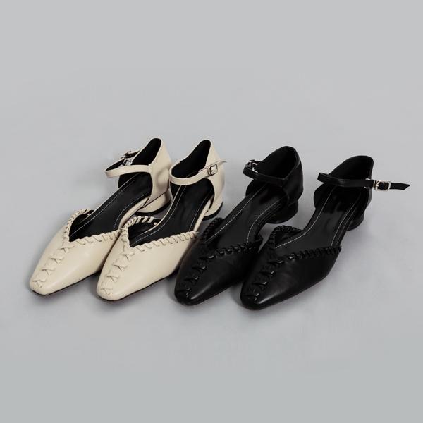 (SH-2637) Stitching Silhouette Strap Sandals