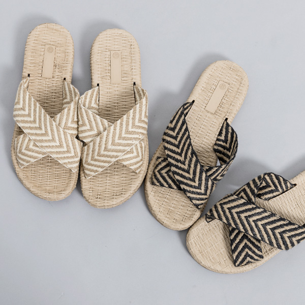 (SH-2697) Natural Patterns cross Strap Sandals