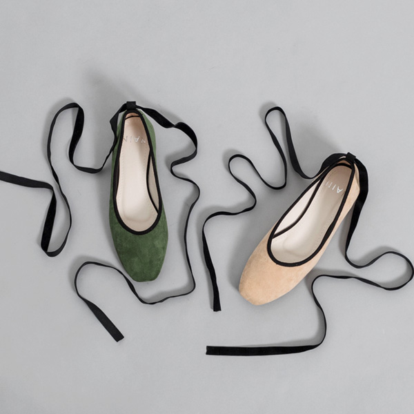(SH-2779) bowknot Strap Suede FlatS