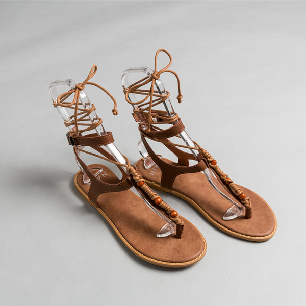 (SH-2692) Ethnic Pointed Strap Sandals