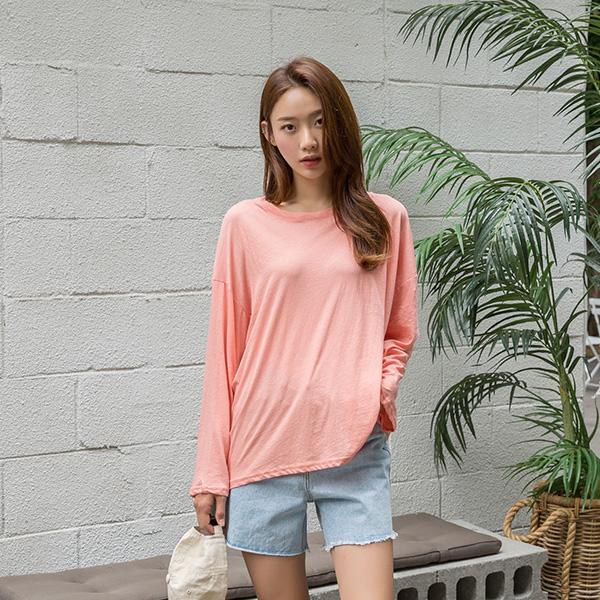 (NT-4895) Cotton simple Summer Sleeve Tee