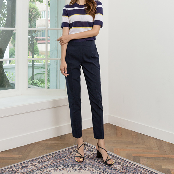 (PT-3873) Basic Bag Banding Slacks Pants