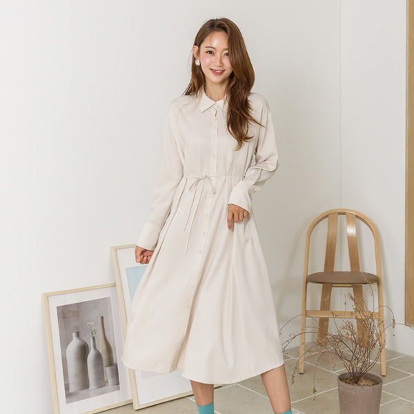 (OP-4407) two-way neck open Shirt One Piece