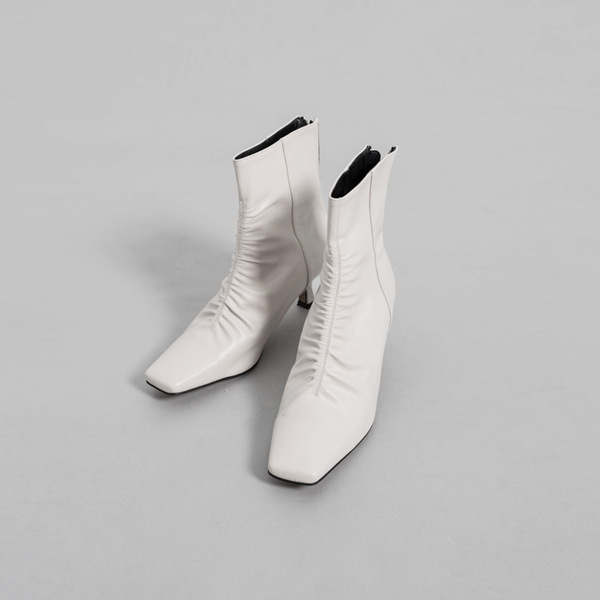(SH-2824) shirring line Ankle Boots Heel