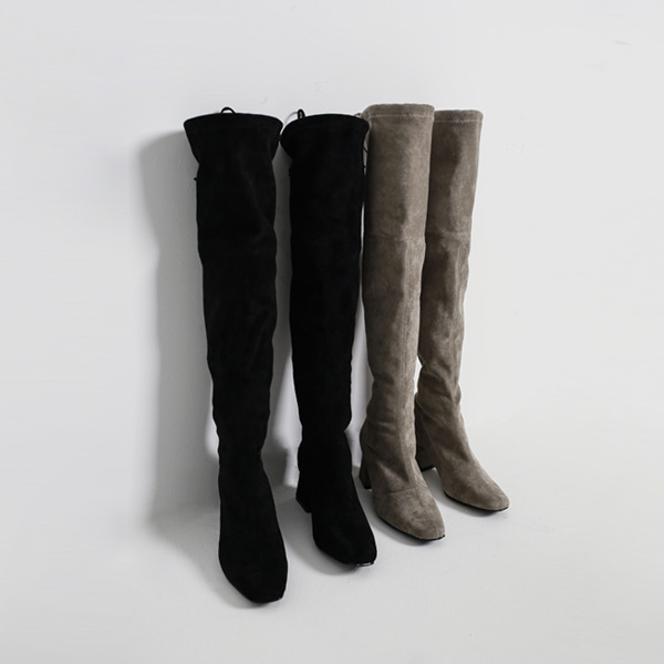 (SH-2523) Suede Slim Knight Boots