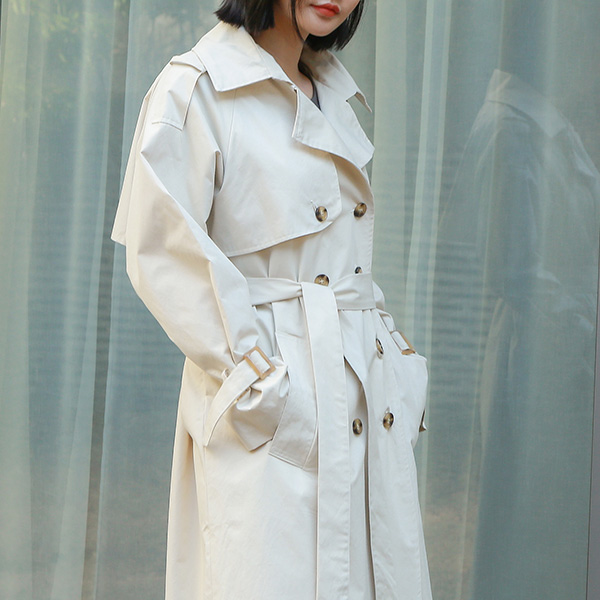 (CT-1170) double button Trench CoatS