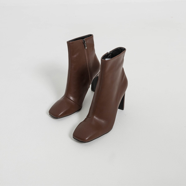 (SH-2822) line Square Toe Ankle Boots Heel
