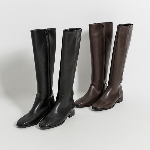 (SH-2843) Square Straight Long Boots