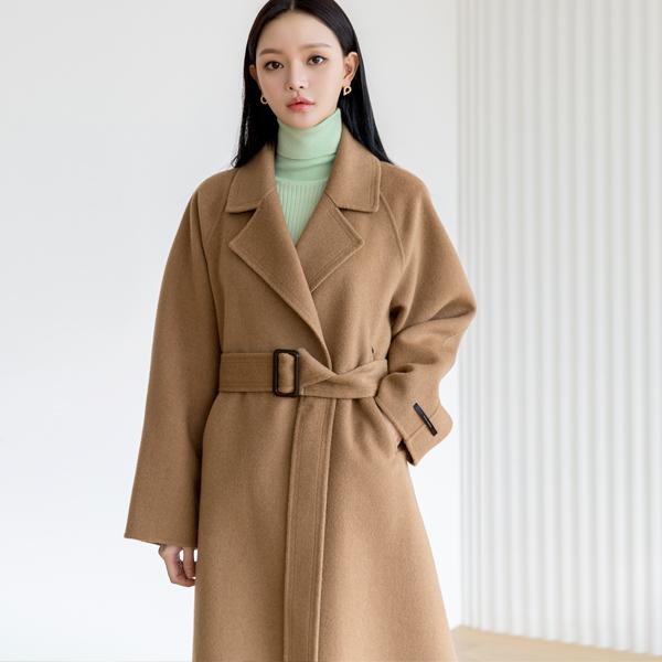 (R-CT-1003) Wool Raglan Long Handmade CoatS