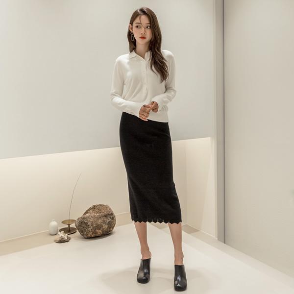 (T-5037) Cashmere Kara Button Knit