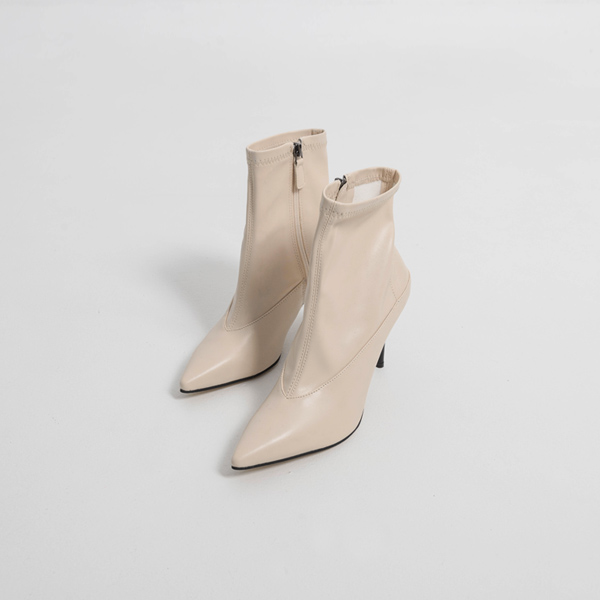 (SH-2854) Stiletto Span Ankle Boots Heel