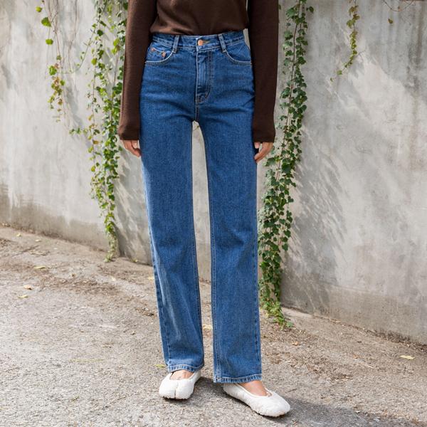 (PT-3980) Tapered Wide Denim Pants
