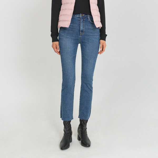 (PT-3981) Straight Cutting Denim Pants